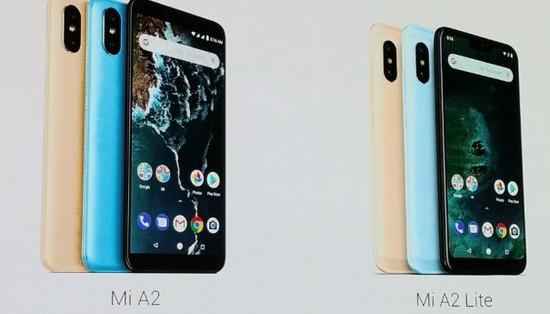 Дизайн смартфонов Xiaomi Mi A2 и Xiaomi Mi A2 Lite